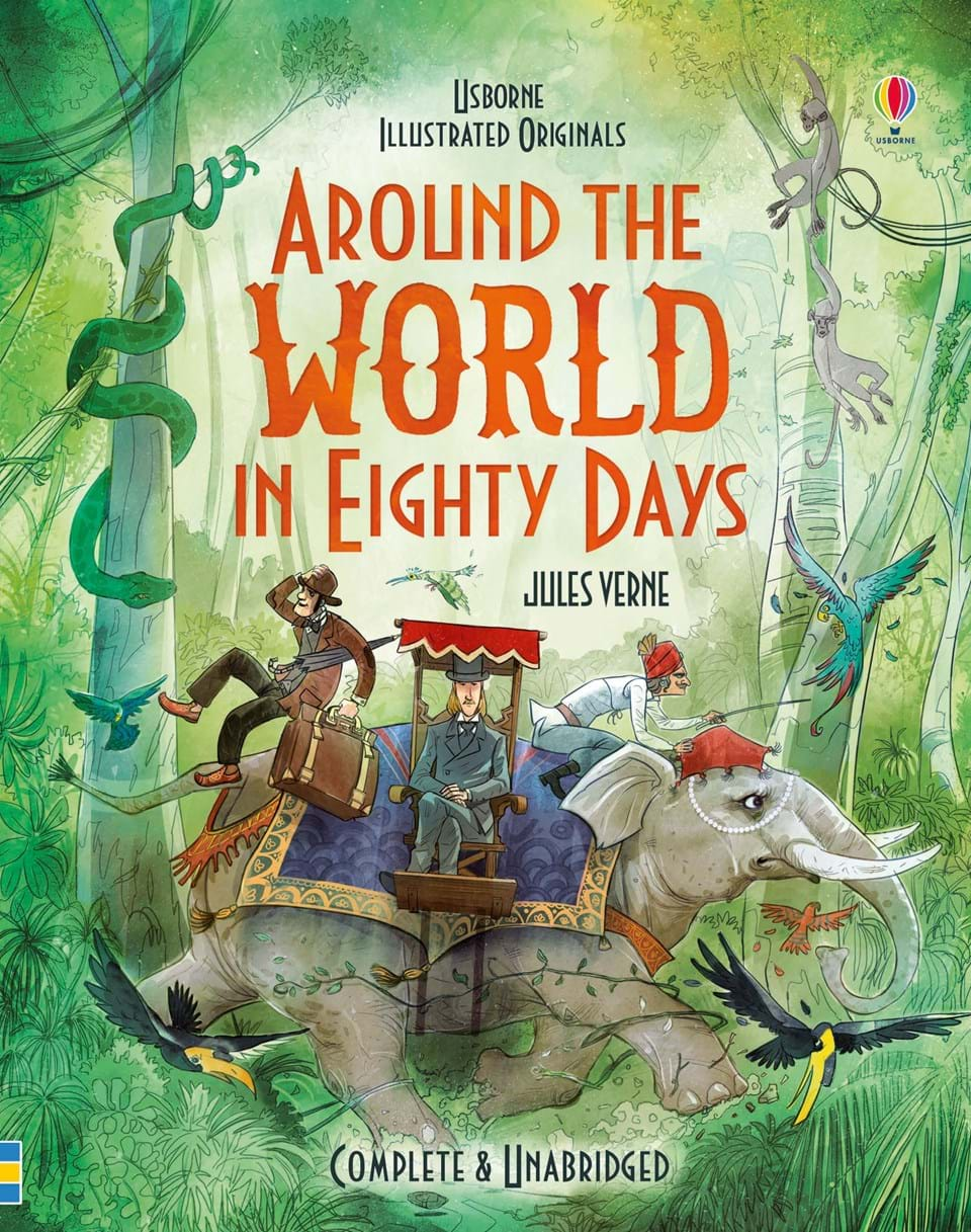 a plot summary of jules vernes book round the world in eighty days Around the world in 80 days / five weeks in a balloon: and five weeks  a  very nice book i was looking for, about jules verne's well known adventure  it is  a simple edition of the story and is easily shared with young children, but still.