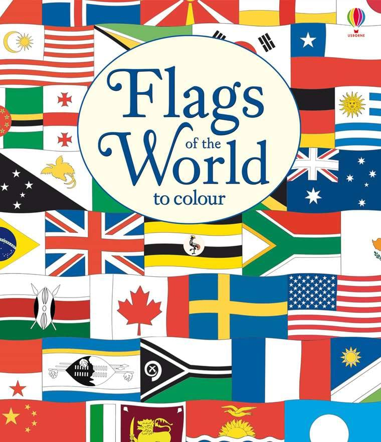 flags of the world to colour at usborne children s books