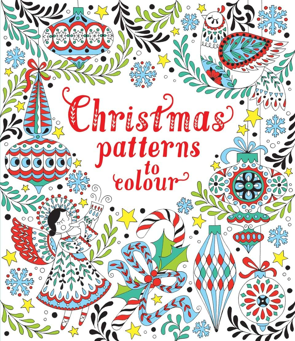 christmas patterns to colour - Pattern Pictures To Colour