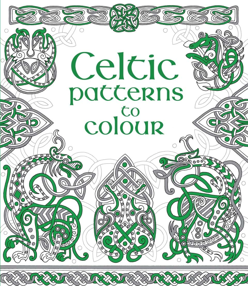 """Book Cover Pattern Uk : """"celtic patterns to colour at usborne books home"""