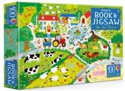 On the farm jigsaw and picture book