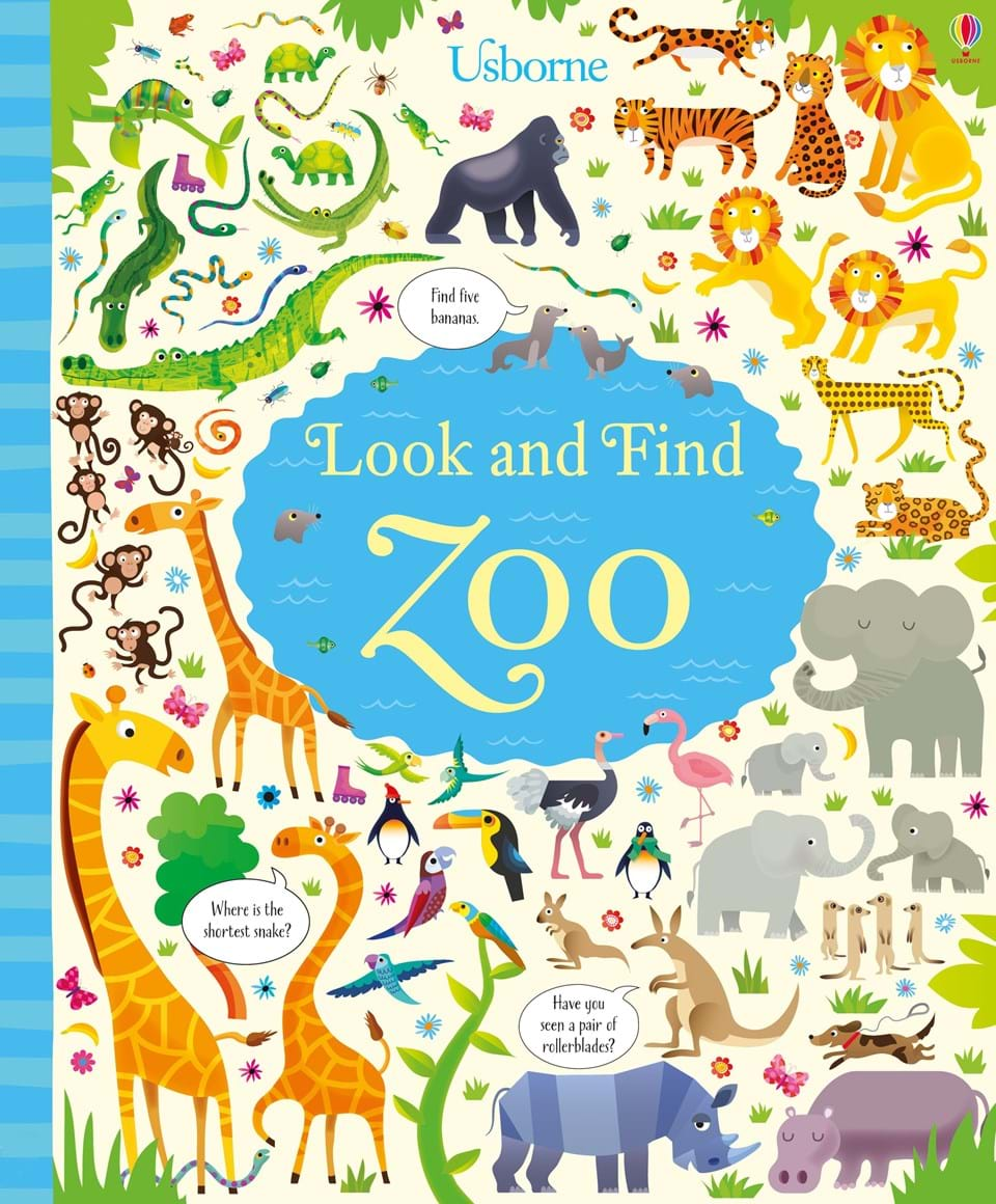 look and find zoo at usborne children s books. Black Bedroom Furniture Sets. Home Design Ideas