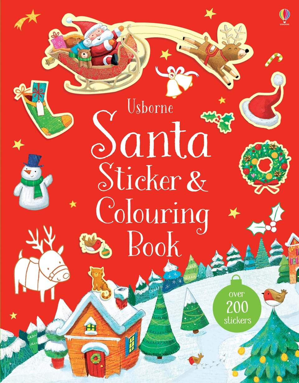 "Santa sticker and colouring book"" at Usborne Books at Home"