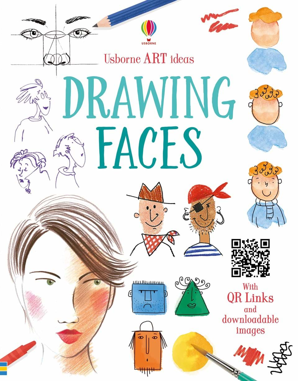 """Book Covers With Faces : """"drawing faces at usborne children s books"""