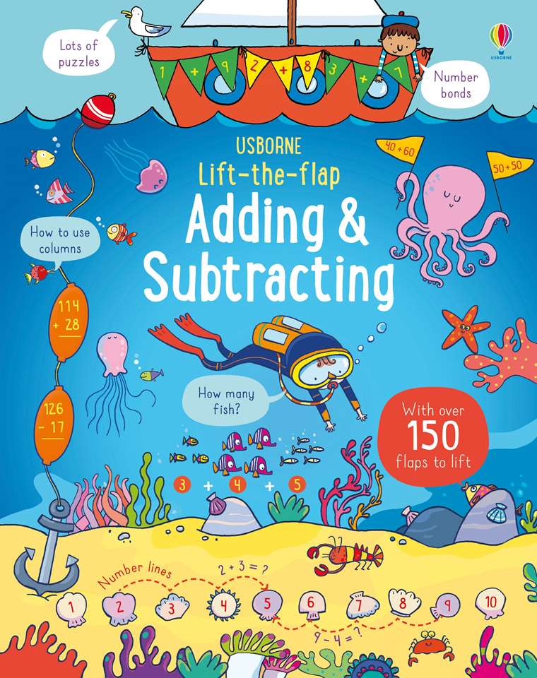 lift the flap adding and subtracting at usborne children s books