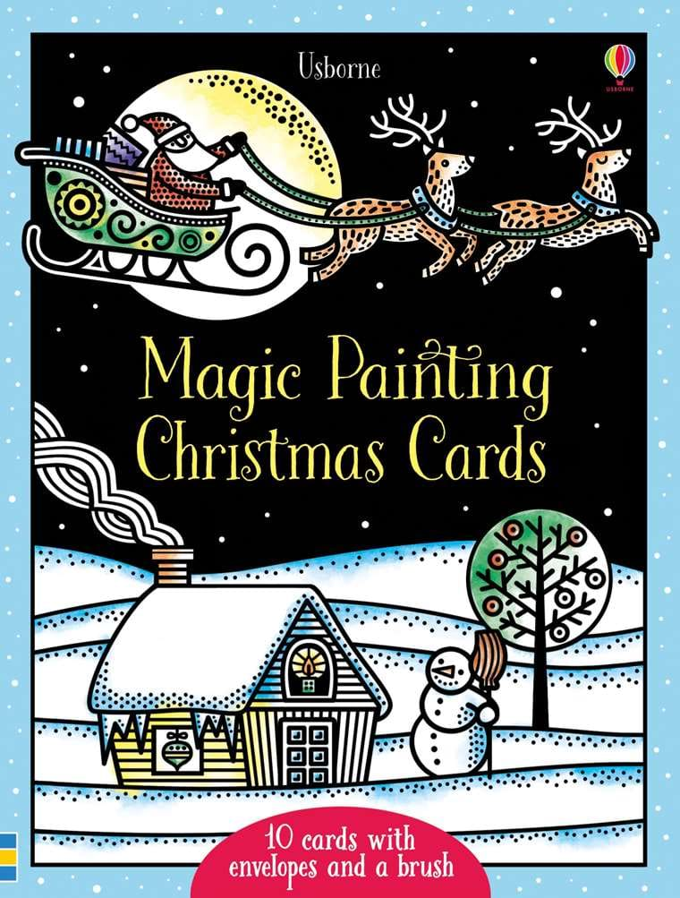 "Magic painting Christmas cards"" at Usborne Children\'s Books"
