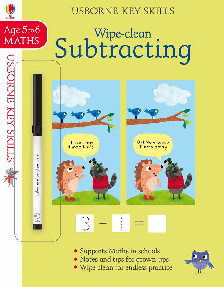 "Wipe-clean subtracting 5-6"" at Usborne Children's Books"