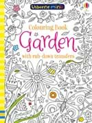 Garden colouring book with rub-down transfers