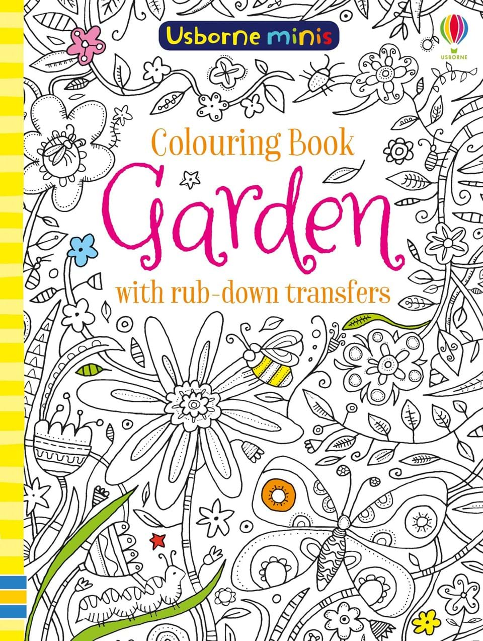 "Garden colouring book with rub-down transfers"" at Usborne Children\'s ..."