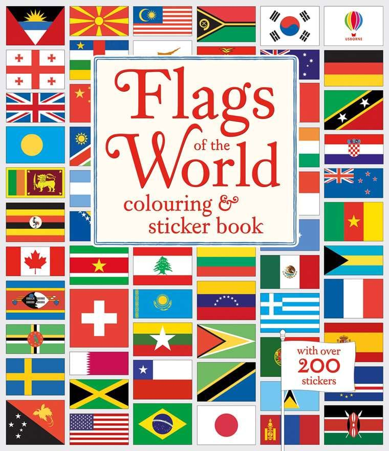 "Flags of the world colouring and sticker book"" at Usborne Children\'s ..."