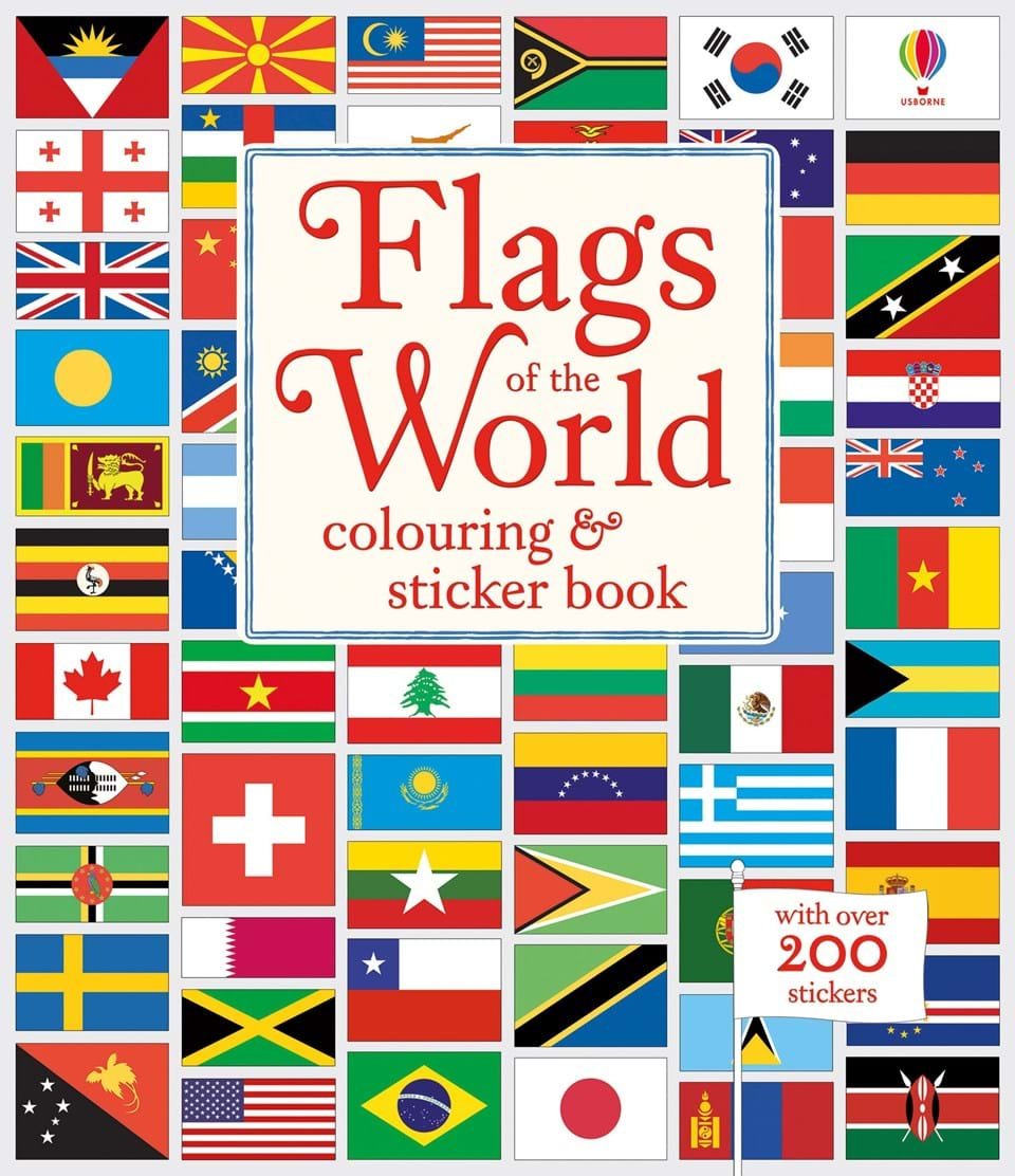 flags of the world colouring and sticker book at usborne children s books. Black Bedroom Furniture Sets. Home Design Ideas