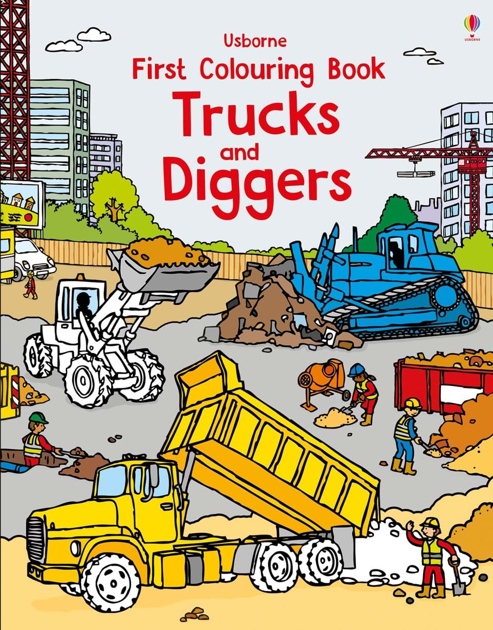 jungle trucks and diggers - Colouring Books