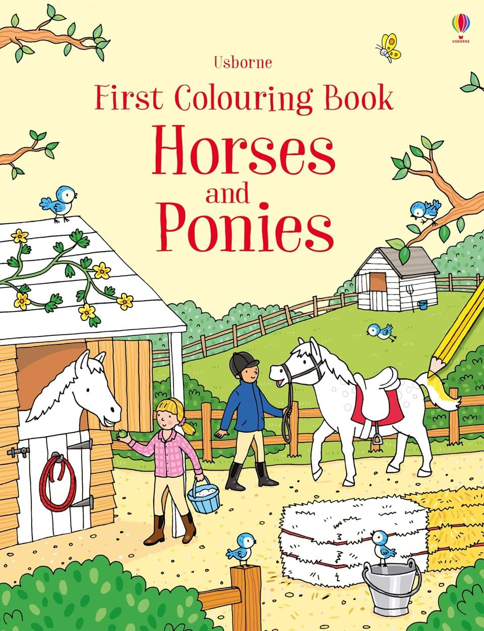 farm horses and ponies - Colouring Books