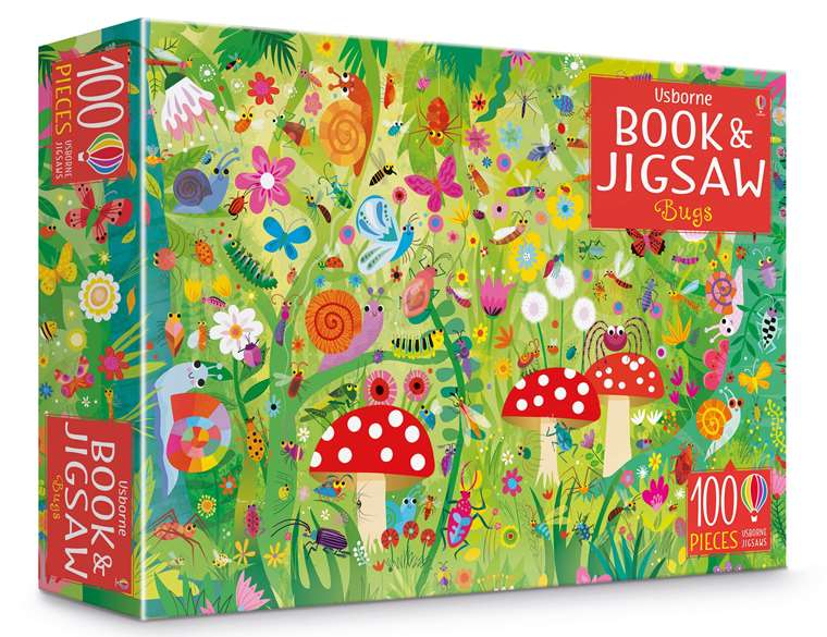 """Bugs puzzle book and jigsaw"""" at Usborne Children's Books"""