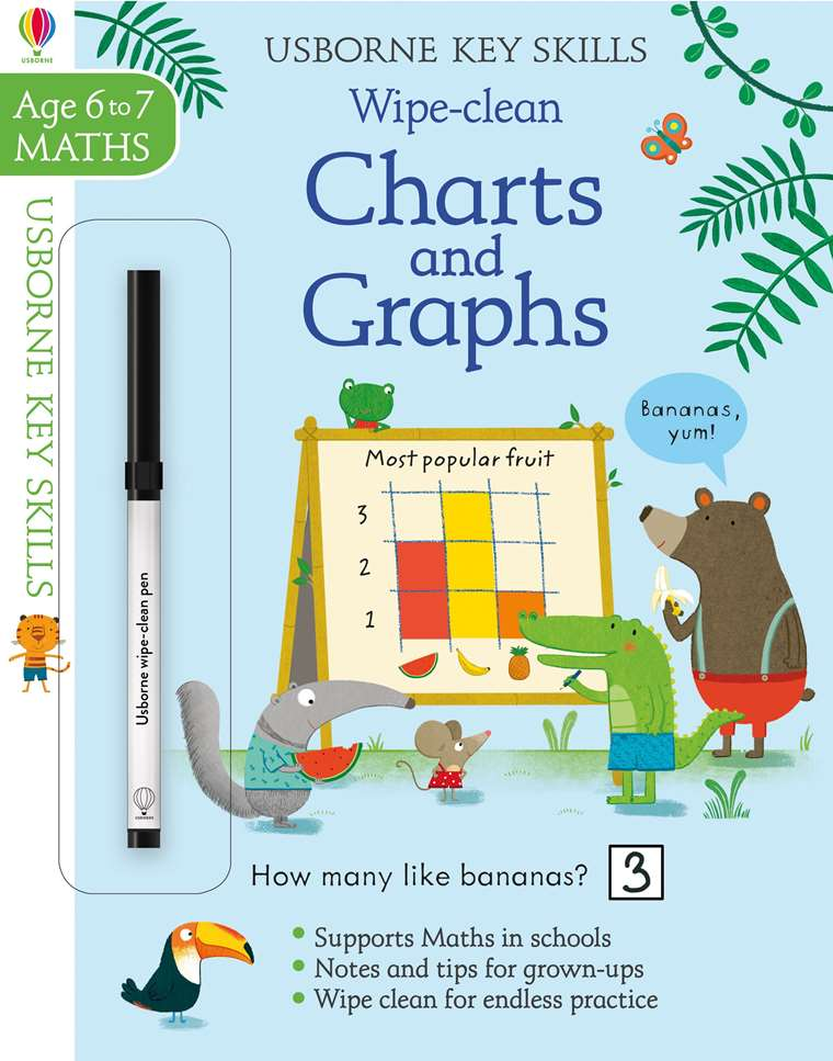 Wipe Clean Charts And Graphs 6 7 At Usborne Children S Books