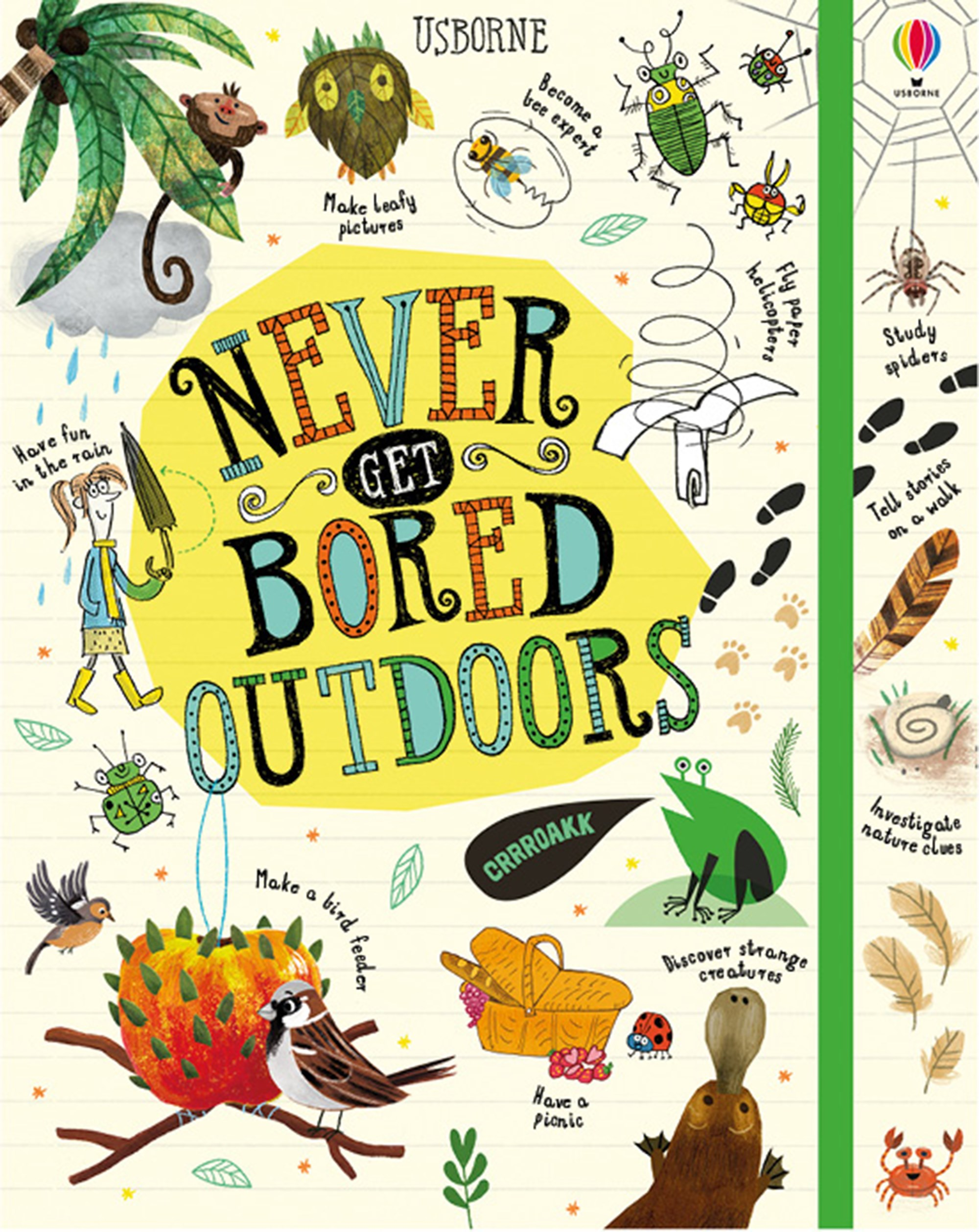 "Never get bored outdoors"" at Usborne Children's Books"