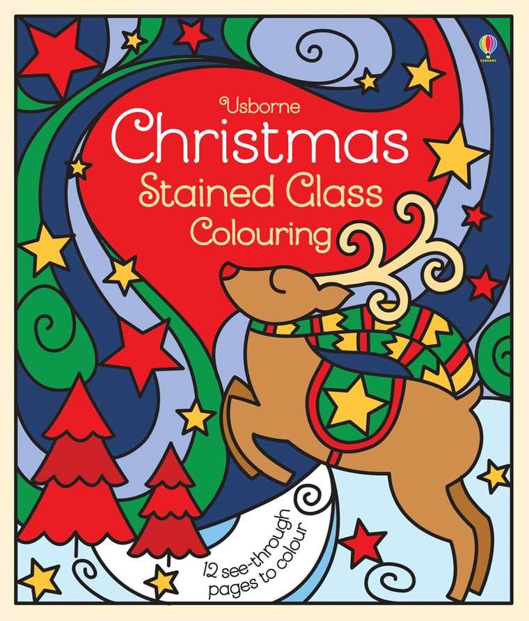 christmas stained glass colouring at usborne childrens books