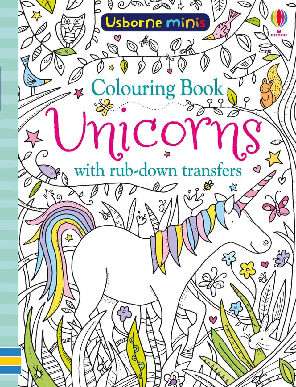 "Unicorns colouring book with rub-down transfers"" at Usborne Books at ..."