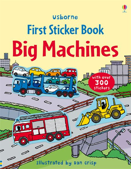 "School Book Cover Stickers : ""big machines sticker book at usborne books home"