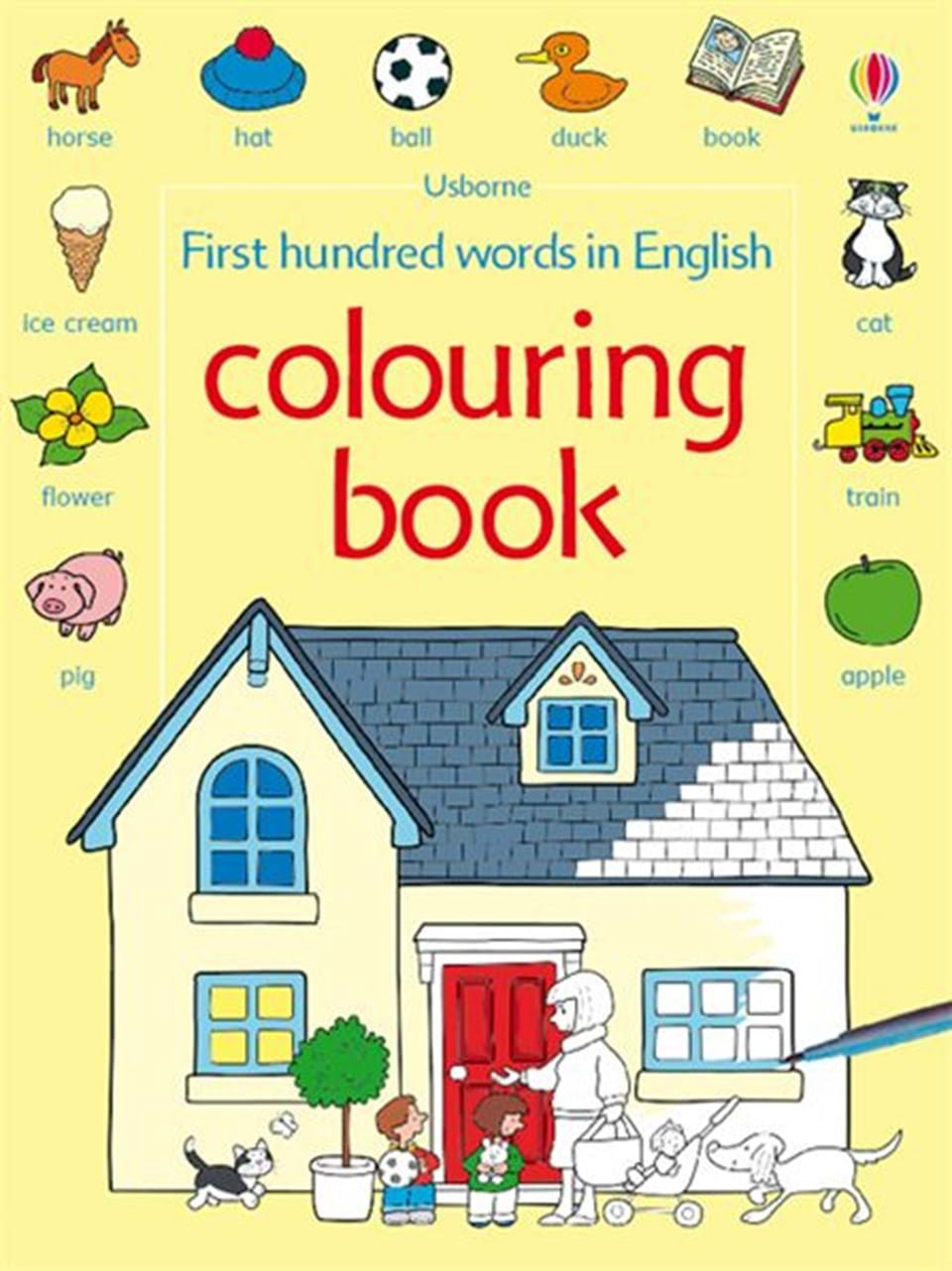 first hundred words in english colouring book - Colouring In Book