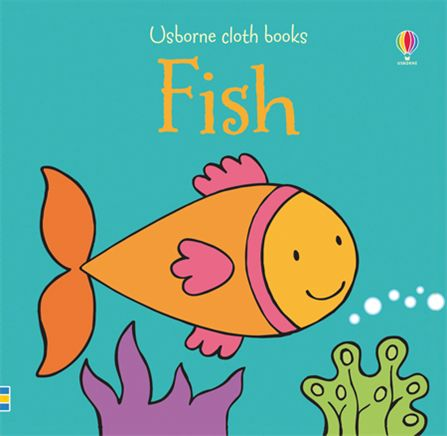 Fish cloth book at usborne books at home for Book with fish on cover