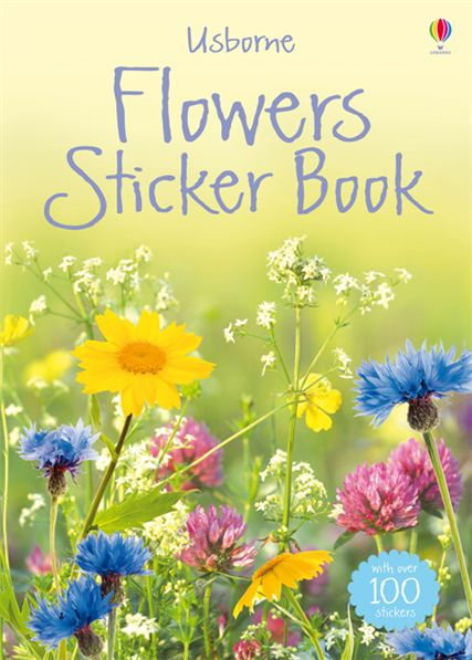 """Book Cover Flower : """"flowers sticker book at usborne books home"""