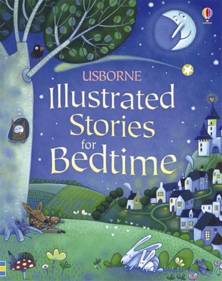 "Illustrated Book Cover Questions : ""illustrated stories for bedtime at usborne books home"