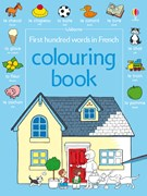 First hundred words in French colouring book