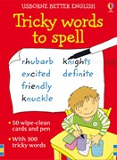 'Tricky words to spell cards' book cover