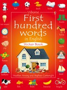 'First hundred words in English sticker book' book cover