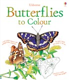 'Butterflies to colour' book cover