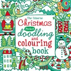 Christmas pocket doodling and colouring book