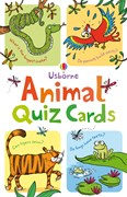 'Animal quiz cards' book cover