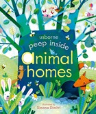 'Peep inside animal homes' book cover