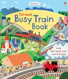 'Pull-back busy train book' book cover