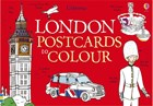 'London postcards to colour' book cover