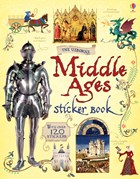 'The Middle Ages sticker book' book cover