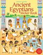 'Ancient Egyptians sticker book' book cover