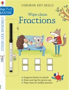 'Wipe-clean fractions 7-8' book cover