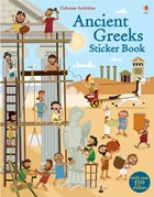 'Ancient Greeks sticker book' book cover