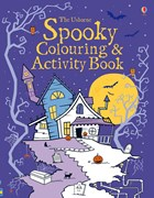 'Spooky colouring and activity book' book cover