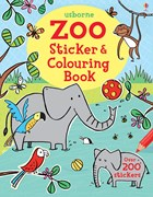 'Zoo sticker and colouring book' book cover