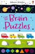 'Over 80 brain puzzles' book cover