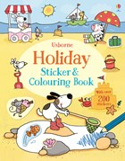 'Holiday sticker and colouring book' book cover