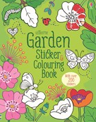 'Garden sticker and colouring book' book cover