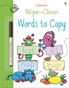 'Wipe-clean words to copy' book cover