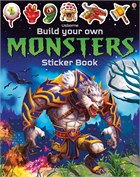 'Build your own monsters sticker book' book cover