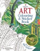 'Art colouring and sticker book' book cover