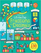 'Lift-the-flap fractions and decimals' book cover