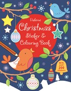 'Christmas sticker and colouring book' book cover